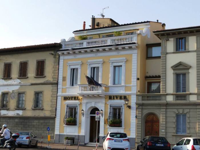 Our hotel, which was just across the river from Piazza Michelangelo.