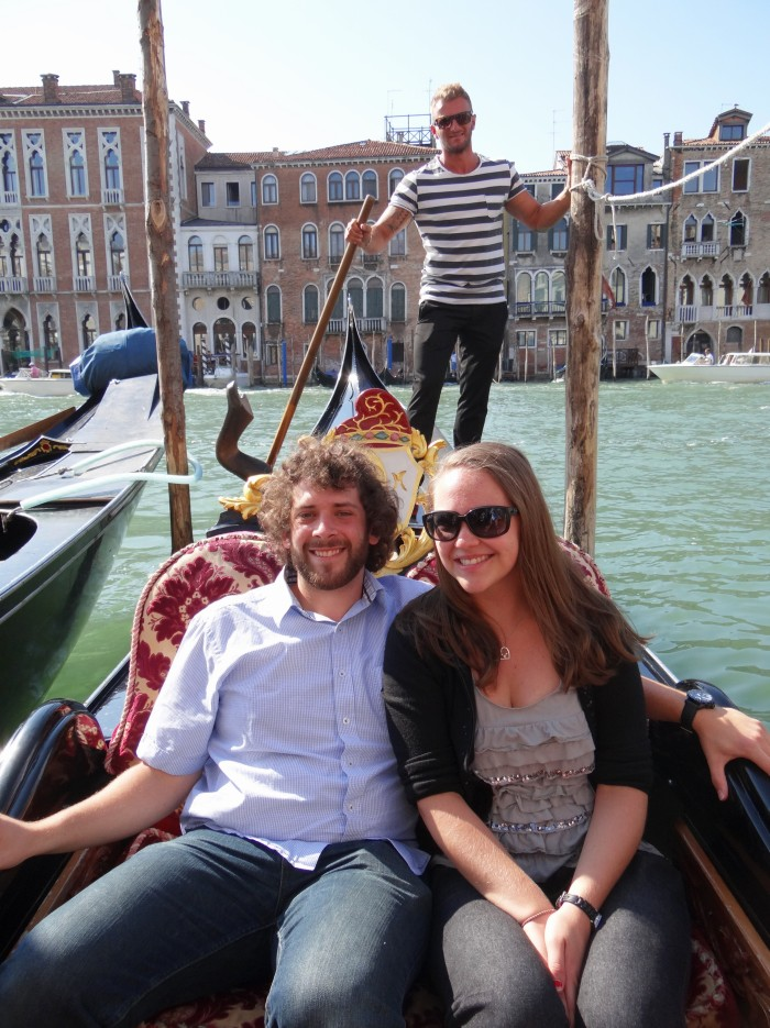 With our singing gondolier after our ride.