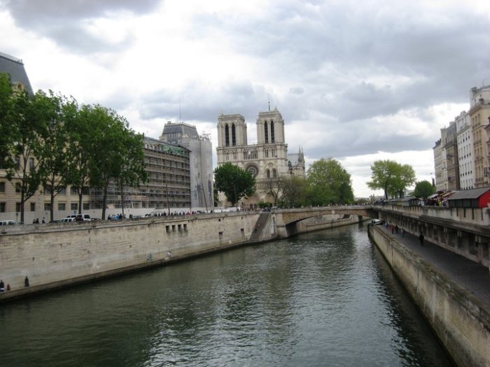 Not the angle you usually view Notre Dame from, but lovely just the same.