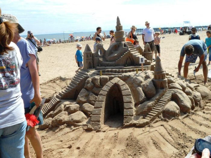 One of many very impressive sandcastles.