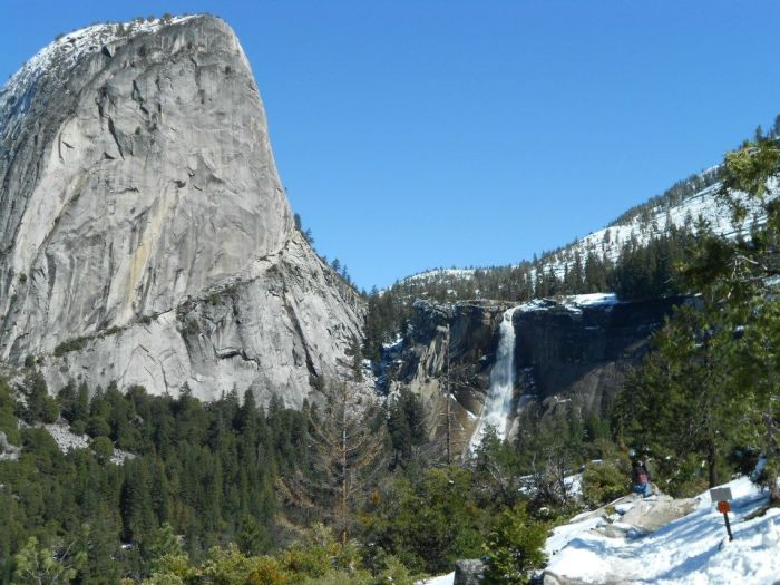 Liberty Cap and Nevada Falls.