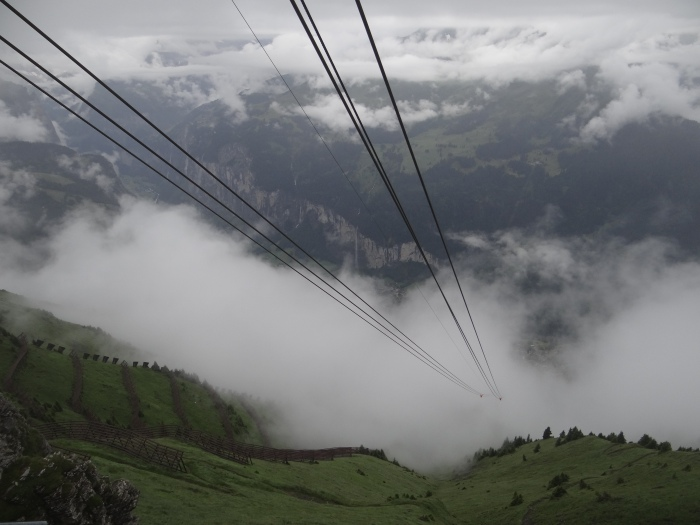 Rather than hiking to our highest points in Switzerland, we took the cable car!