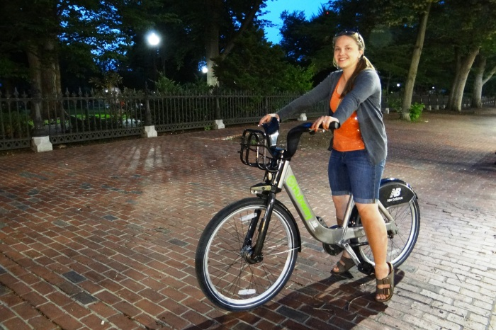 Even at dusk, we were confident that the Hubway was a safe and reliable way to get us back to our hotel before dark!
