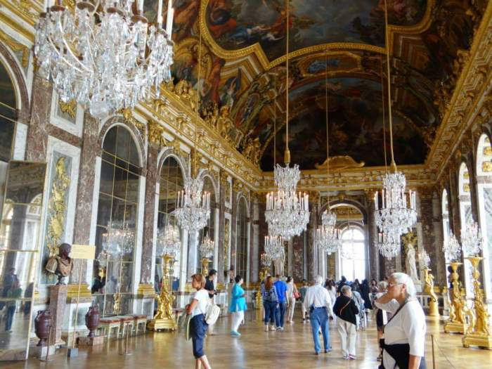 The ever iconic Hall of Mirrors, with lots of empty space to help you soak in the enormity of the room.