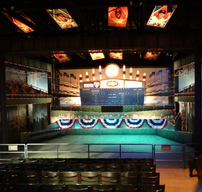 The grandstand theater is a great place to start your Hall of Fame journey.