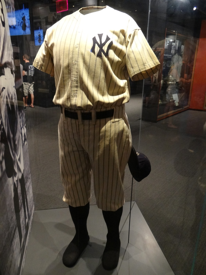 Babe Ruth's uniform, worn by him at the ceremony during which the Yankees retired his jersey number.