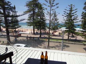 View from lunch at Ribs & Rumps.