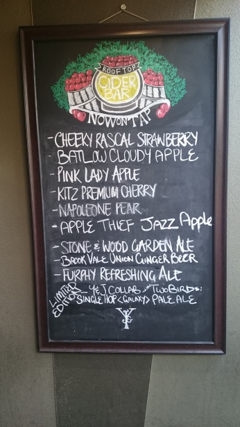 Today's tap selections.