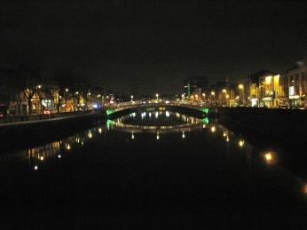 River Liffey by night.