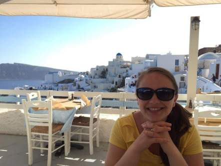 First dinner in Oia.